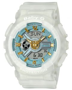 Casio Ladies Baby G Seaglass Strap Watch BA-110SC-7AER