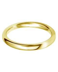 9ct Gold 2.5mm Court Wedding Ring BC2.5 9Y