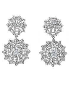 Fei Liu Bella Silver Cubic Zirconia Double Stud Earrings BEL-925R-202-CZ00