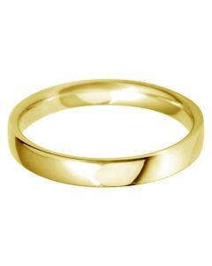 9ct Gold 3mm Light Court Wedding Ring BLC3.0 9Y
