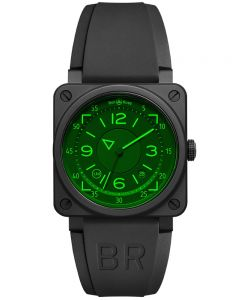 Bell & Ross Mens Instruments BR 03-92 HUD Limited Edition Watch BR0392-HUD-CE/SRB