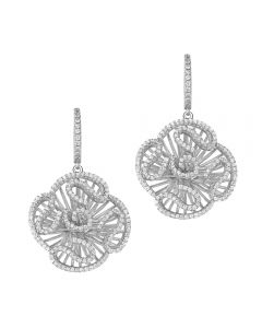 Fei Liu Cascade Silver Cubic Zirconia Cascade Stud Drop Earrings CAS-925R-202-CZ00