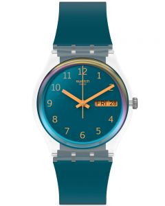 Swatch Mens Blue Away Watch GE721