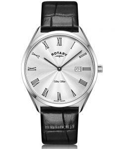 Rotary Mens Ultra Slim Strap Watch GS08010/01
