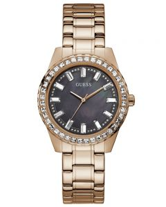 Guess Ladies Sparkler Rose Gold Tone Watch GW0111L3