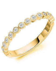 18ct Gold Milgrain-Edge Diamond Eternity Ring (M) HET2503 18Y M