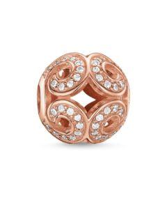 THOMAS SABO Rose Gold Plated CZ Glittering Wave K0027-416-14