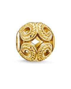Thomas Sabo Gold Plated Open Work Wave Bead K0051-413-12