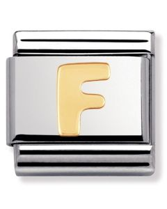 Nomination CLASSIC Gold Letters F Charm 030101/06