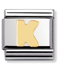 Nomination CLASSIC Gold Letters K Charm 030101/11