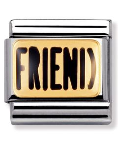 Nomination CLASSIC Gold Messages Friend Charm 030232/03