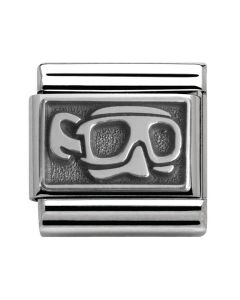 Nomination CLASSIC Silvershine Honolulu Oxidised Diving Mask Charm 330102/11