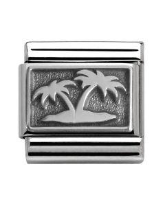 Nomination CLASSIC Silvershine Honolulu Oxidised Palm Tree Charm 330102/12