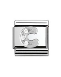 Nomination CLASSIC Silvershine Letter C Charm 330301/03