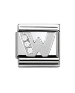 Nomination CLASSIC Silvershine Letter W Charm 330301/23