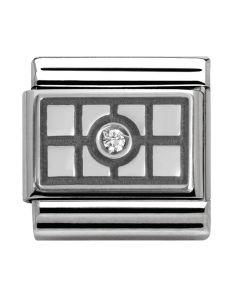 Nomination CLASSIC Silvershine Honolulu Oxidised White Grid Charm 330314/03