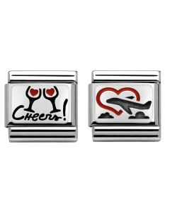 Nomination CLASSIC Silvershine Love is in the Air Charm Set