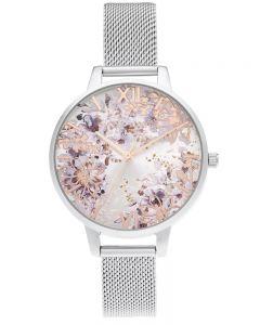 Olivia Burton Ladies Abstract Flower Mesh Watch OB16VM46