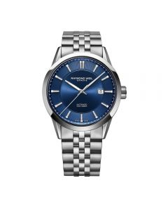Raymond Weil Mens Freelancer Blue Bracelet Watch 2731-ST-50001