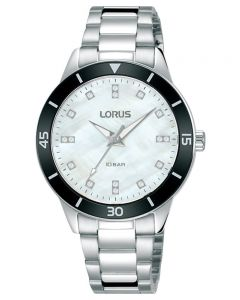 Lorus Ladies Sports White Mother of Pearl Dial Bracelet Watch RG245RX9