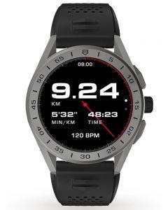 TAG Heuer Mens Connected Titanium Black Rubber Strap Smartwatch SBG8A81.BT6222