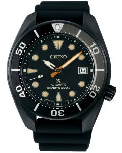 Seiko Mens Propex Sumo Black Rubber Strap Black Dial Date Watch SPB125J1