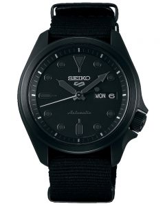 Seiko 5 Sports Black Fabric Strap Watch SRPE69K1