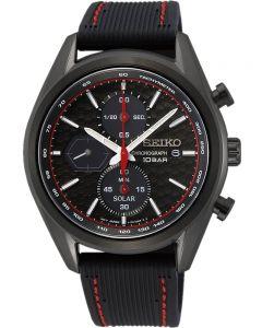 Seiko Mens Chronograph Rubber Watch SSC777P1
