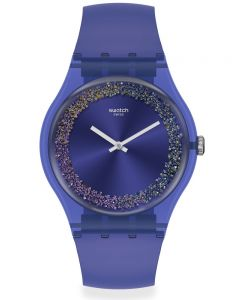 Swatch Ladies Purple Rings Strap Watch SUOV106