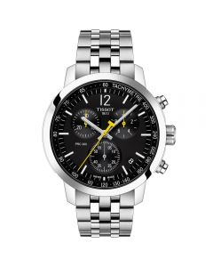 Tissot Prc200 Stainless Steel Black Dial Chronograph Watch T114.417.11.057.00