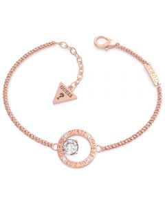 GUESS All Around You Rose-Gold Crystal Circle Bracelet UBB20133-L