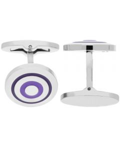 Fred Bennett Purple Enamel Circle Cufflinks V506