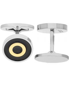 Fred Bennett Round Yellow Steel Cufflinks V507