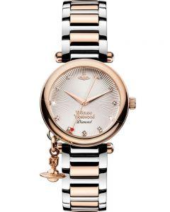 Vivienne Westwood Ladies Orb Diamond Watch VV006SLRS