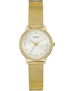 Guess Ladies Chelsea Gold Plated Bracelet Watch W0647L7