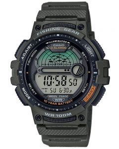 Casio Fishing Gear Green Digital Strap Watch WS-1200H-3AVEF