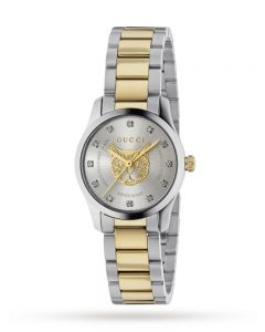 Gucci Ladies Timeless Two Tone Watch YA1265016