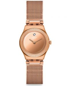 Swatch Ladies Holiday Irony Luminescent Rose Watch YSG166M