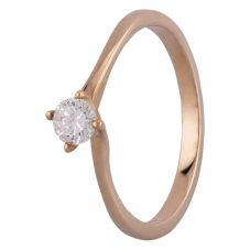 9ct Four Claw Twist Solitaire Certificated 0.20ct Ring R378020 Y