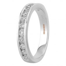 18ct White Gold 0.50ct Diamond Half Eternity Ring H4144D-8W-050F N