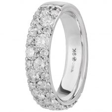 9ct White Gold 1.80ct Diamond Band 50J92WG/180-18 N