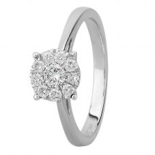 9ct White Gold 0.33ct Diamond Cluster Ring THR3146 -33
