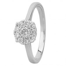 9ct White Gold 0.50ct Diamond Cluster Ring SKR2963-50