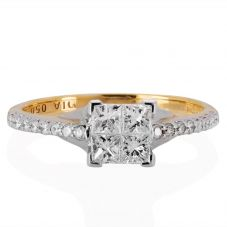 18ct Quad-Set Diamond Ring 0601 4911 K