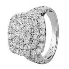 18ct White Gold 2.00ct Diamond Square Cluster Ring SKR15868-200
