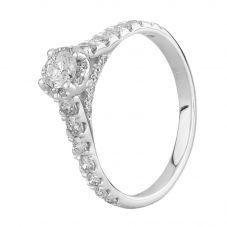 18ct White Gold 1.00ct Diamond Shoulders Cluster Ring SKR23609-125E