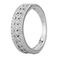 9ct White Gold 0.50ct Diamond Three Row Ring SKR18111-50