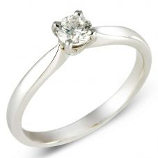 9ct White Gold 0.20ct Claw-set Diamond Solitaire Ring 8645/9W/DQ1020