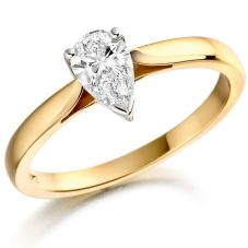 18ct Gold 1.01ct Pear-cut Diamond Solitaire Ring SOL/PS/1221921C