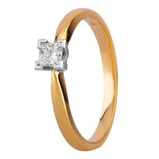 18ct Yellow Gold Princess Cut Diamond Ring 0601 4114 O